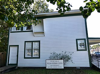 President William Jefferson Clinton Birthplace Home National Historic Site - Image: First home of Bill Clinton (24058932888)