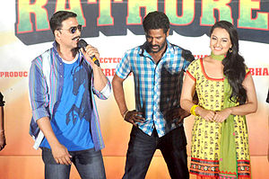 Rowdy Rathore - Akshay Kumar, Sonakshi Sinha and Prabhudeva at the first-look launch of Rowdy Rathore