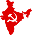 Flag map of India (Communist Party of India).png