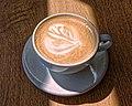 Flat white coffee at Sainsbury's, Chingford, London, England 2.jpg