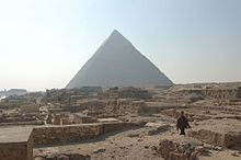 Mastabas In The Giza Necropolis With Pyramid Of Khafre Background