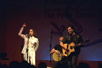 Achinoam Nini - Achinoam Nini performing at the opening of the Peres Institute for Peace