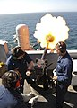 Flickr - Official U.S. Navy Imagery - Sailors test fire the ship's saluting cannons..jpg