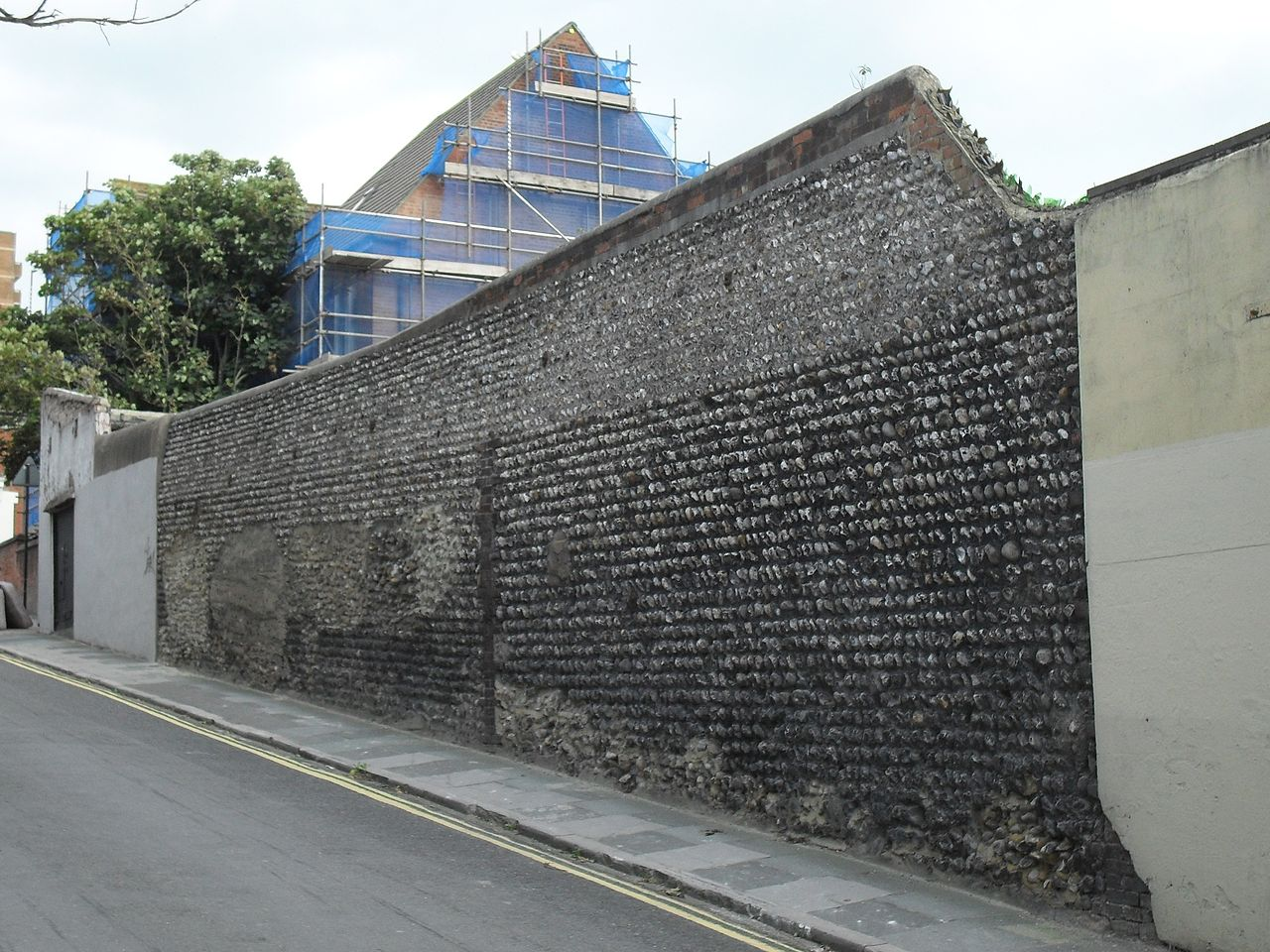 File Flint Wall At Carlton Hill Brighton Jpg Wikimedia