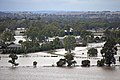 Flood waters on the Murrumbidgee flood plains in North Wagga, viewed from Franklin Drive in Estella (5).jpg