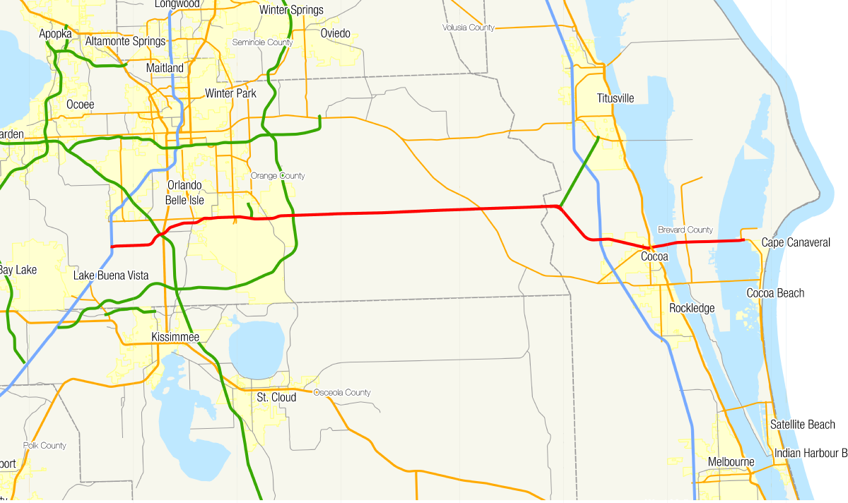 Map Of Florida Turnpike Service Plazas.Florida State Road 528 Wikipedia