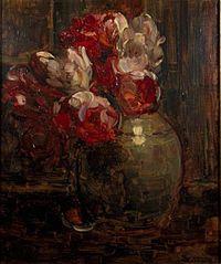 Pot de gingembre avec Tulipes