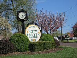 Florissant City Hall sign, April 2013