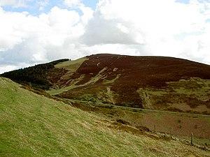 Foel Fenlli - Image: Foel Fenlli from Offa's Dyke Path