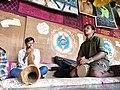Folk musicians at Hippy village (Hampi).jpg