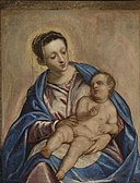 Follower of Tintoretto - Madonna and Child 314N08715 5XZ4N.jpg