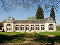 Fontaine-Chaalis (60), abbaye de Chaalis, orangerie, vue depuis le sud 1.jpg
