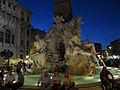 Fontana dei Quattro Fiumi at Night (15489475821).jpg