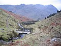 Footbridge and Sheep pens. - geograph.org.uk - 116115.jpg