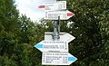 Footpath signs in Bydgoszcz, Oplawiec and Smukala districts.JPG