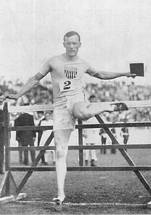 """Forrest Smithson - Smithson and his running """"style""""."""