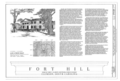 Fort Hill, Clemson University Campus, Clemson, Pickens County, SC HABS SC,39-CLEM,1- (sheet 1 of 28).png