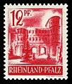 Fr. Zone Rheinland-Pfalz 1948 20 Porta Nigra, Trier.jpg