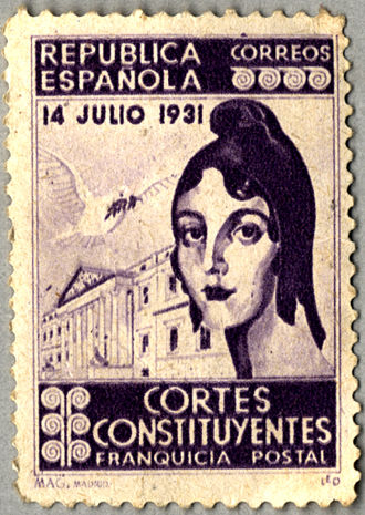 Spanish Constitution of 1931 - Commemorative stamp
