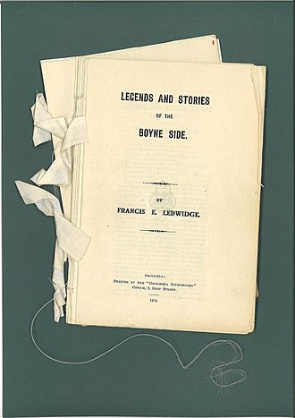 Francis Ledwidge - The Original staves of Legends and Stories of the Boyne Side