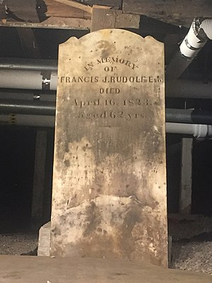 Francis Joseph Rudolf - Francis Rudolf, The Crypt, St. John's Anglican Church, Lunenburg, Nova Scotia