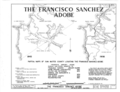 Francisco Sanchez Adobe, Linda Mar Boulevard and Adobe Drive, Pacifica, San Mateo County, CA HABS CAL,41- ,1- (sheet 1 of 8).png