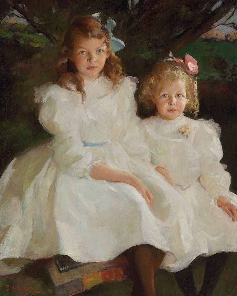 Фрэнк У. Бенсон - Две маленькие девочки (1903).jpg