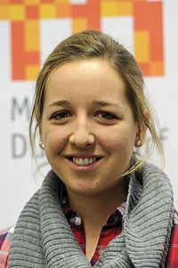 Franziska Preuß bei der Olympia-Einkleidung Erding 2014 (Martin Rulsch) 03.jpg