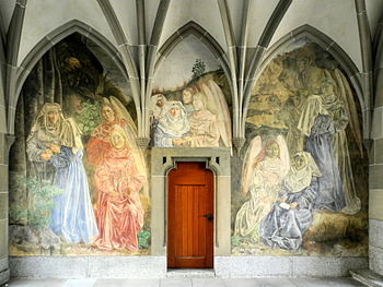 Fraumünster - Bodmer-Frescos - Kreuzgang 2012-09-17 17-13-18 (P7000).JPG
