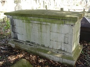 Frederick Traill-Burroughs - Funerary monument, Brompton Cemetery, London