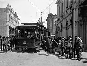 Trams in Fremantle - Fremantle Municipal Tramways opening day, 30 October 1905