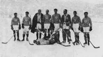 Ice hockey at the 1924 Winter Olympics - The French national team.