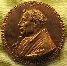 Martin Bucer 1543 (Friedrich Hagenauer, Medaille, Staatliche Münzsammlung München) (Quelle: Wikimedia)