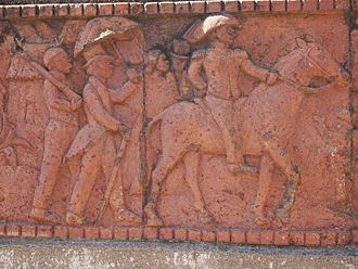 Joseph Gallieni - Frieze of Gallieni near the Rova of Antananarivo in Madagascar