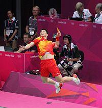Fu Haifeng, Mens Doubles Badminton Final (8172656810).jpg
