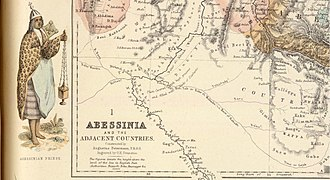 August Heinrich Petermann - Portion of Petermann's map of Abessinia