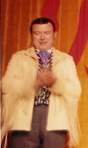 Fulton Burley - Fulton Burley on the stage of the Golden Horseshoe Revue in the early 1970s.