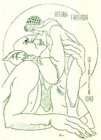 Futuria Fantasia - The cover of the third issue