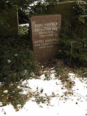 Karl Erich Andrée - Grave of Andrée at the Stadtfriedhof in Göttingen.
