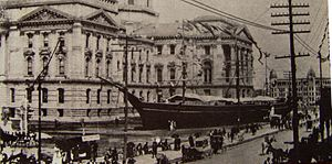 Grand Army of the Republic - A replica of the USS ''Kearsarge'' displayed at the 1893 GAR National Convention in Indianapolis, Indiana