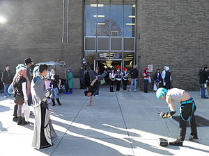 Rowan College at Gloucester County - People at KotoriCon in front of the College Center