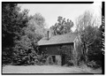 GENERAL PERSPECTIVE VIEW FROM WEST - John Stapler House, Outbuilding, 1505 Dolington Road, Yardley, Bucks County, PA HABS PA,9-YARD,6A-1.tif