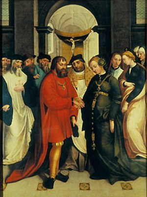 Alexius of Rome - The Wedding of Saint Alexius; Garcia Fernandes, 1541.