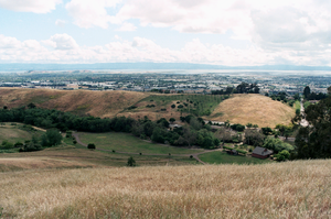 Garin Regional Park - Facing West within the park, overlooking the city of Hayward, with the San Francisco Peninsula in the distance.