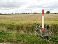 Gas pipe line marker post (and bike). - geograph.org.uk - 537317.jpg