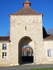 Gate tower of Flaran Abbey, Valence-sur-Baïse, Gers, France.JPG