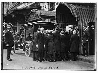 John Warne Gates - Gates funeral in 1911 in Manhattan