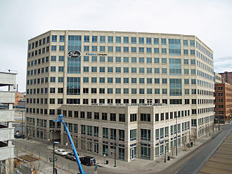 Gates Corporation - Gates Corporation World Headquarters in Denver, Colorado prior to its 2018 relocation into the 1144 Fifteenth Tower just seven blocks away.