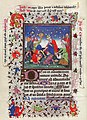 Gathering of the Manna - Hours of Catherine of Cleves - MS M. 917-945 137v - Morgan Library New York, around 1440.jpg