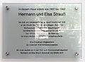 Gedenktafel Kurfürstendamm 184 (Charl) Hermann Elsa Strauß.jpg